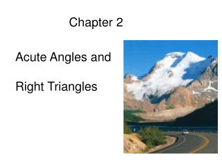 Section 2.1 Trigonometric Functions of Acute Angles