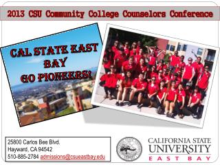 2013  CSU Community College Counselors Conference