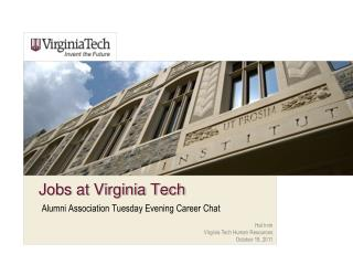 Jobs at Virginia Tech