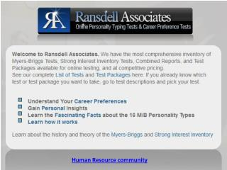 Human Resource community