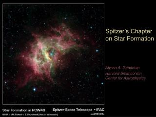 Spitzer's Chapter on Star Formation