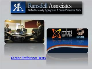 Career Preference Tests