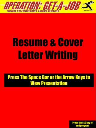 Resume  Cover Letter Writing Press The Space Bar or the ...