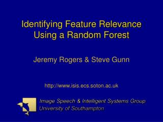 Identifying Feature Relevance Using a Random Forest