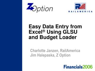 Easy Data Entry from Excel   Using GLSU and Budget Loader