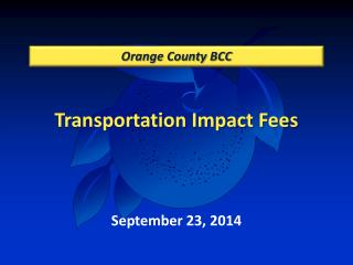 Transportation Impact Fees
