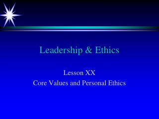 Leadership & Ethics