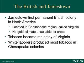The British and Jamestown