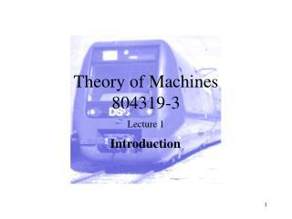 Theory of Machines 804319-3