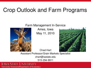 Crop Outlook and Farm Programs