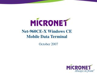 Net-960CE-X Windows CE Mobile Data Terminal