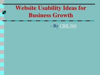 Website Usability Ideas for Business Growth