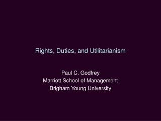 Rights, Duties, and Utilitarianism