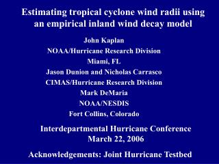 Estimating tropical cyclone wind radii using an empirical inland wind decay model