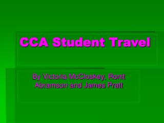 CCA Student Travel