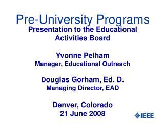 Pre-University Programs