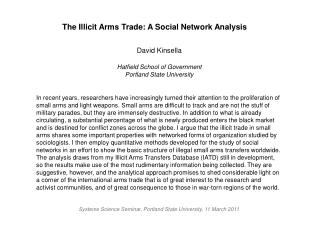 The Illicit Arms Trade: A Social Network Analysis