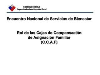 Encuentro Nacional de Servicios de Bienestar