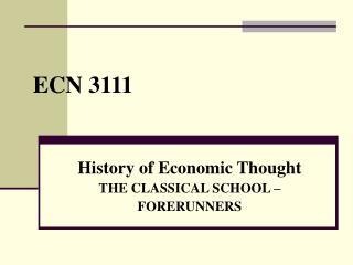 ECN 3111