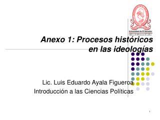 Anexo 1: Procesos históricos  en las ideologías