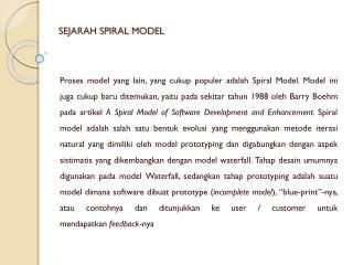 SEJARAH SPIRAL MODEL