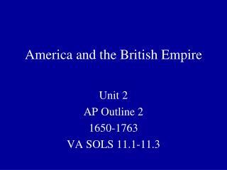 America and the British Empire