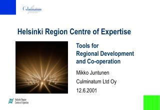 Helsinki Region Centre of Expertise