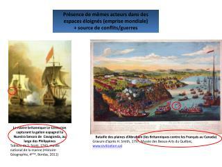 Bataille des plaines d'Abraham (les Britanniques contre les Français au Canada)