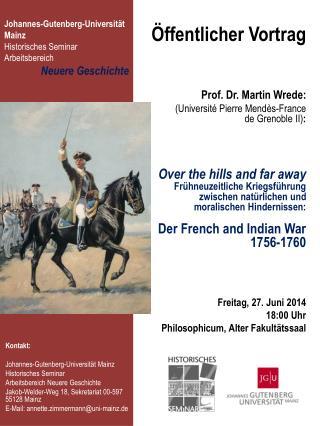 Öffentlicher Vortrag Prof. Dr. Martin Wrede:
