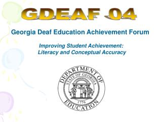 Georgia Deaf Education Achievement Forum