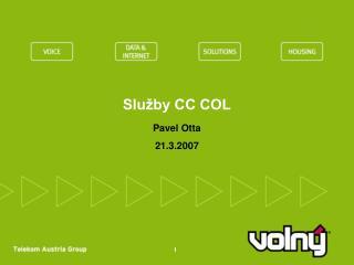 Služby CC COL