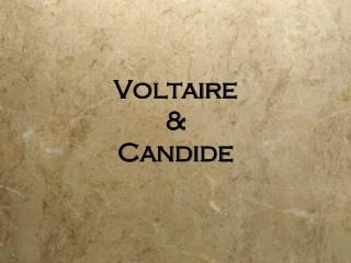 Voltaire & Candide