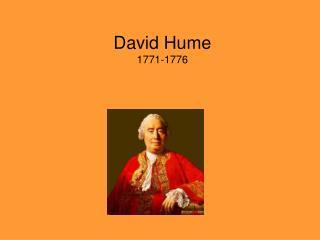 David Hume  1771-1776