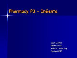Pharmacy P3 – InGenta