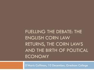 D'Maris Coffman, 10 December, Gresham College