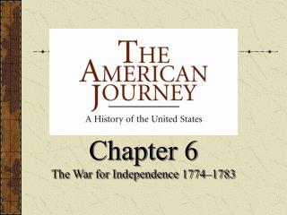 Chapter 6 The War for Independence 1774–1783