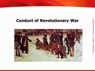 Conduct of Revolutionary War