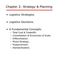 Chapter 2: Strategy & Planning