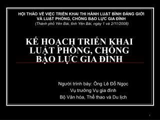 K HOCH TRIN KHAI  LUT PH NG, CHNG  BO LC GIA   NH