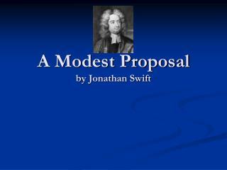 a modest proposal jonathan swift essay