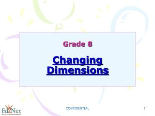Grade 8  Changing Dimensions
