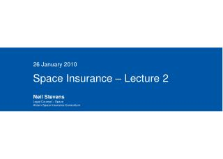 Space Insurance – Lecture 2