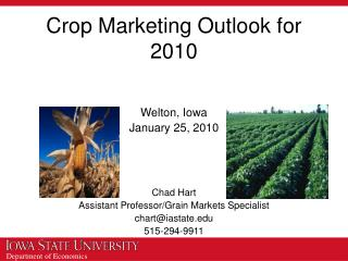 Crop Marketing Outlook for 2010