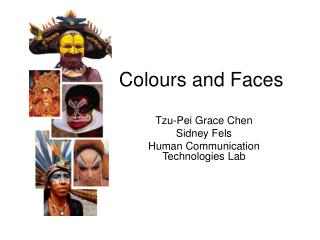 Colours and Faces