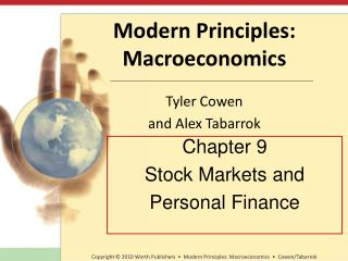 Chapter 9 Stock Markets and Personal Finance
