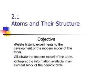 2.1  Atoms and Their Structure