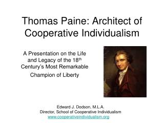 Thomas Paine: Architect of Cooperative Individualism