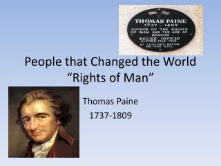 "People that Changed the World ""Rights of Man"""