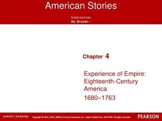 Experience of Empire: Eighteenth-Century America 1680‒1763
