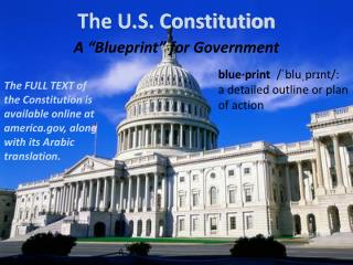 "A ""Blueprint"" for Government"